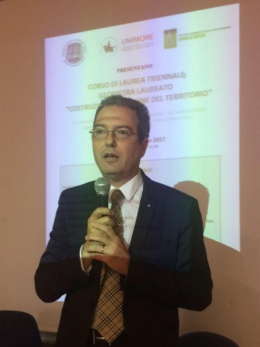 Presidente del Collegio dei Geometri e Geometri Laureati della provincia di Reggio Emilia, Francesco Spallanzani