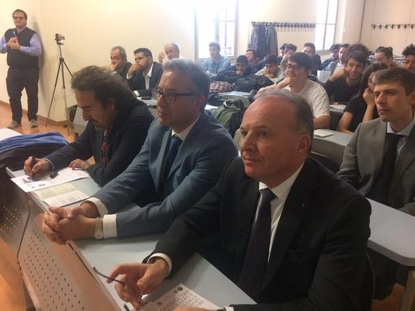 Presidente CNGeGL, Maurizio Savoncelli – Prof. Tarantino – Prof. Capra