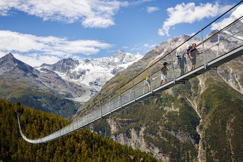 Ponte sospeso Charles Kuonen, Valle di Zermatt (Randa), Svizzera, 2017 © Valentin Flauraud/europaweg.ch