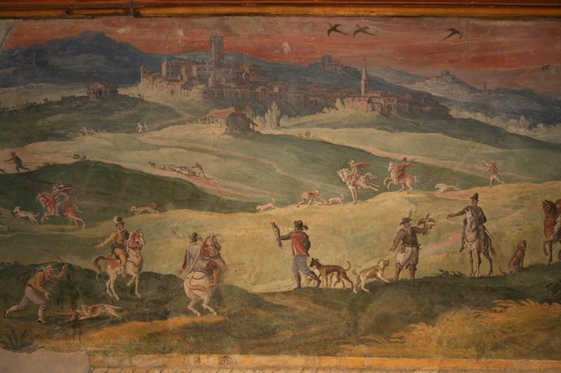 Restauro particolare Sale delle Caccie Palazzo Orsini Barberini copyright de feo restauri