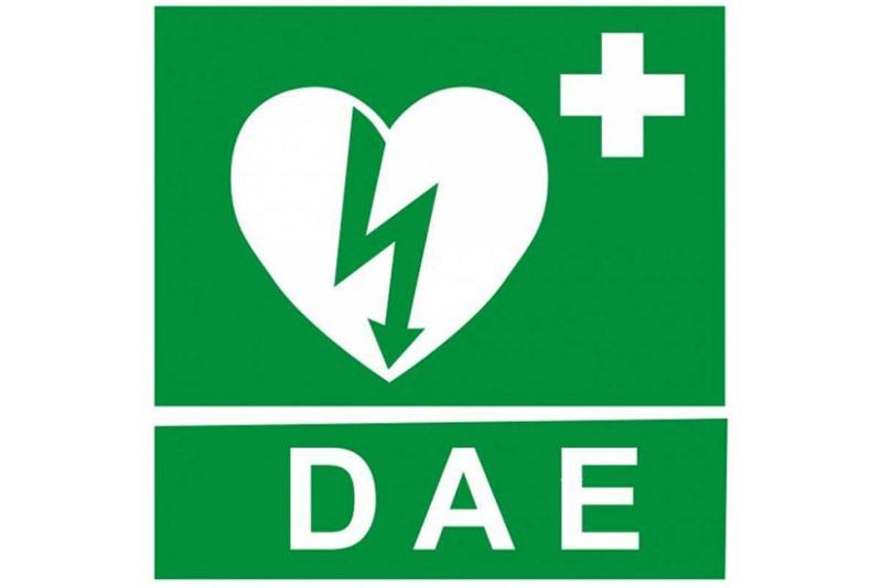 Cartello di segnalazione della presenza del Defibrillatore Semi-Automatico Esterno