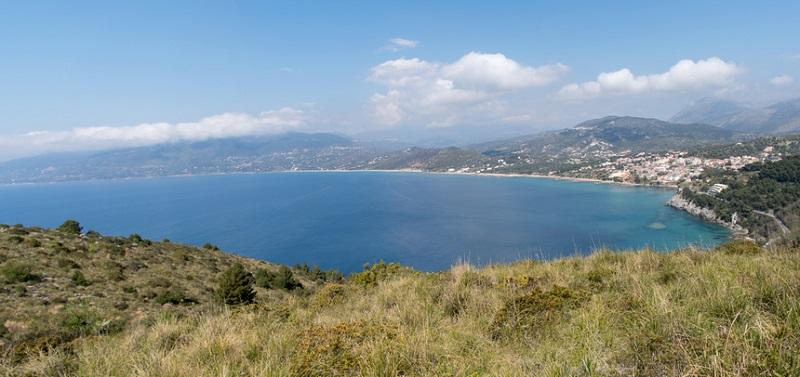 La costa del Mar Tirreno a largo di Capo Palinuro