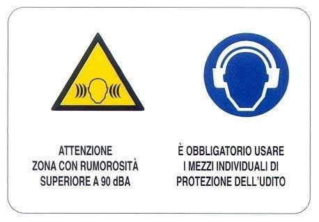 Zona rumorosa - Obbligo di utilizzo di DPI dell'udito