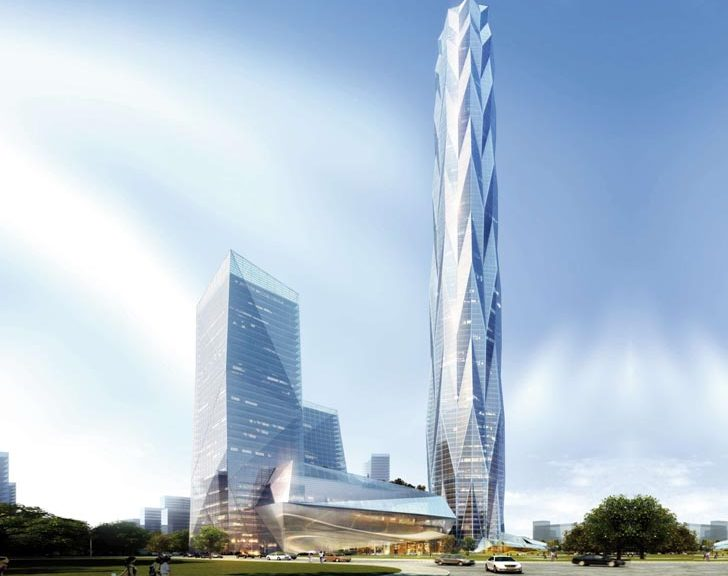 Chengdu Greenland Tower - render di progetto - courtesy Adrian Smith + Gordon Gill Architecture