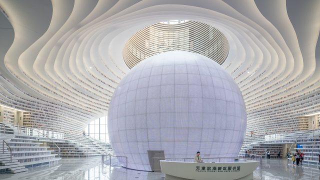 La Tianjin Binhai Library di MVRDV: focus sulle strutture