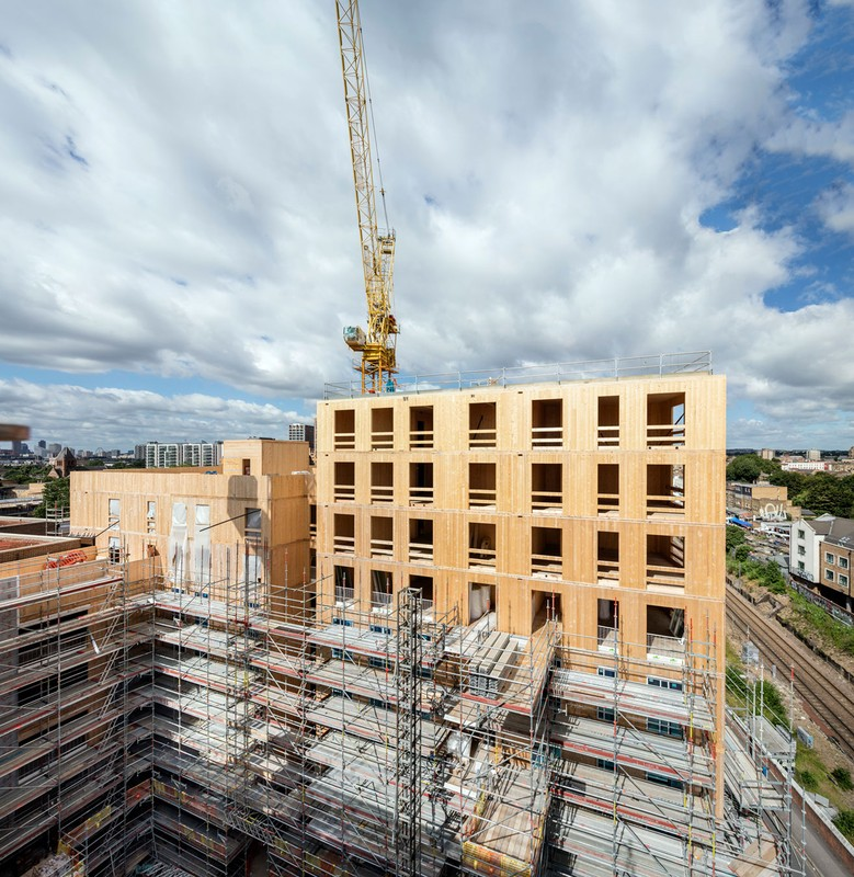 Dalston Lane - CLT - courtesy of Waugh Thistleton Architects