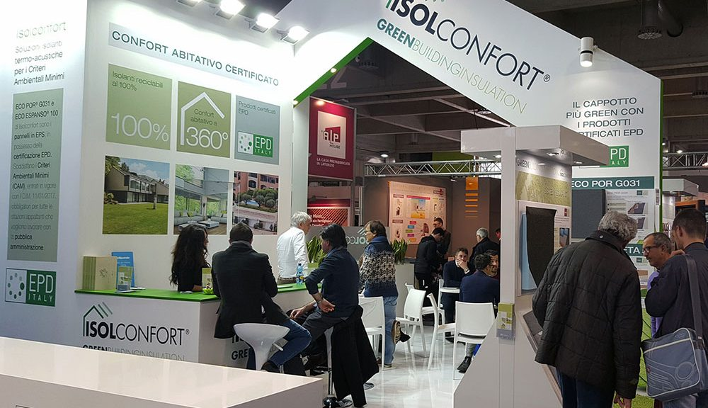 Lo stand Isolconfort a Klimahouse 2018