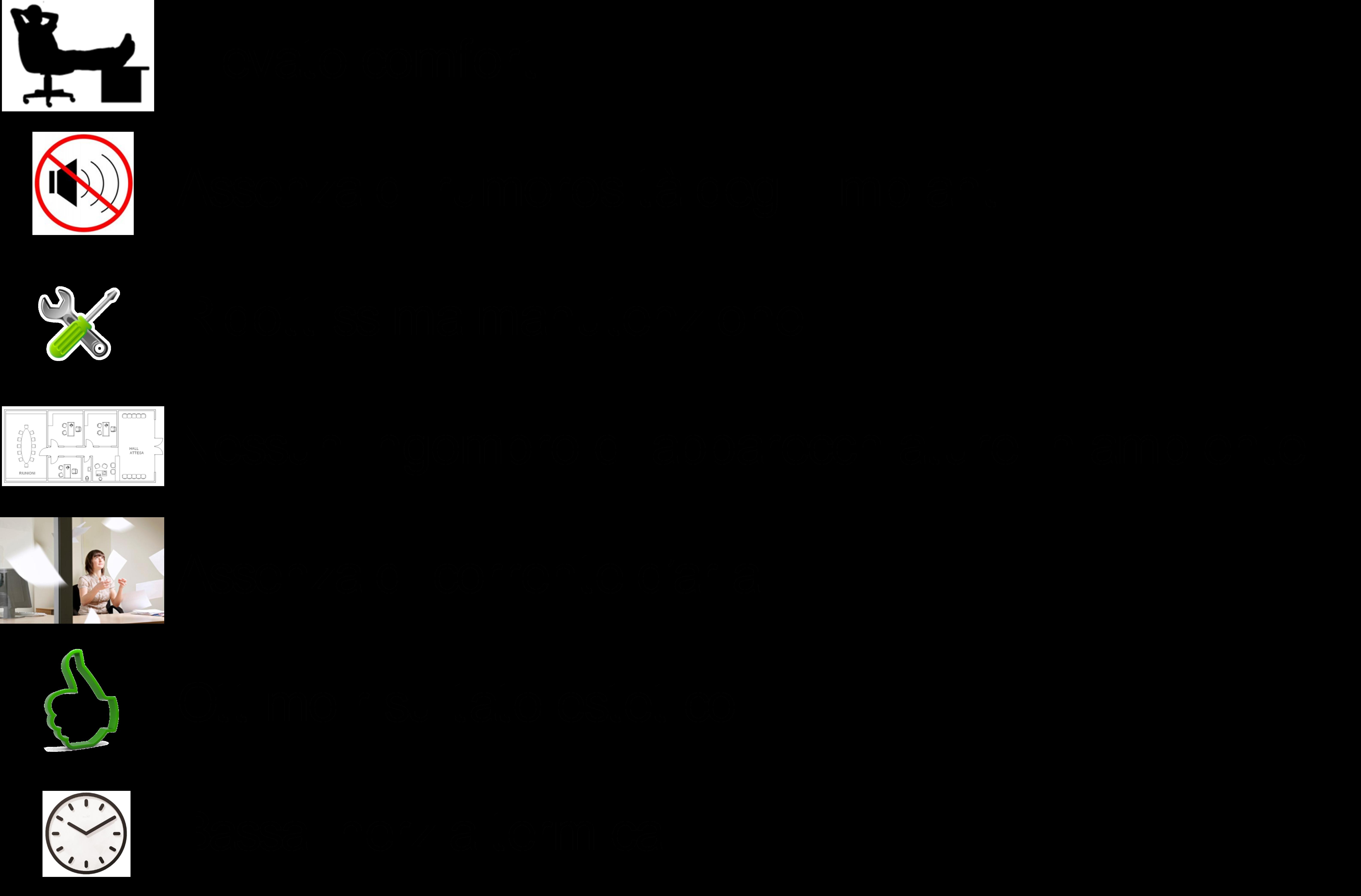 Figura 1. Vantaggi dei sistemi radianti negli edifici per uffici