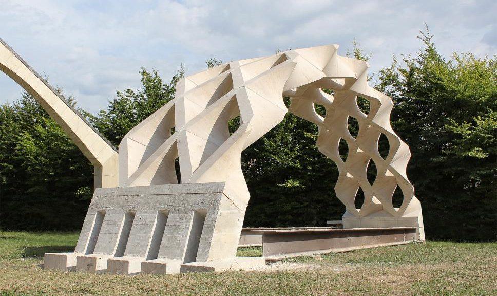 Hypar Vault - protipo realizzato © Giuseppe Fallacara