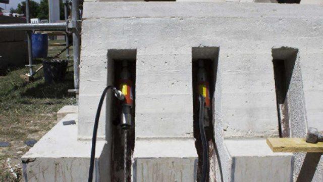 Hypar Vault - protipo realizzato - post-tensione cavi © Giuseppe Fallacara