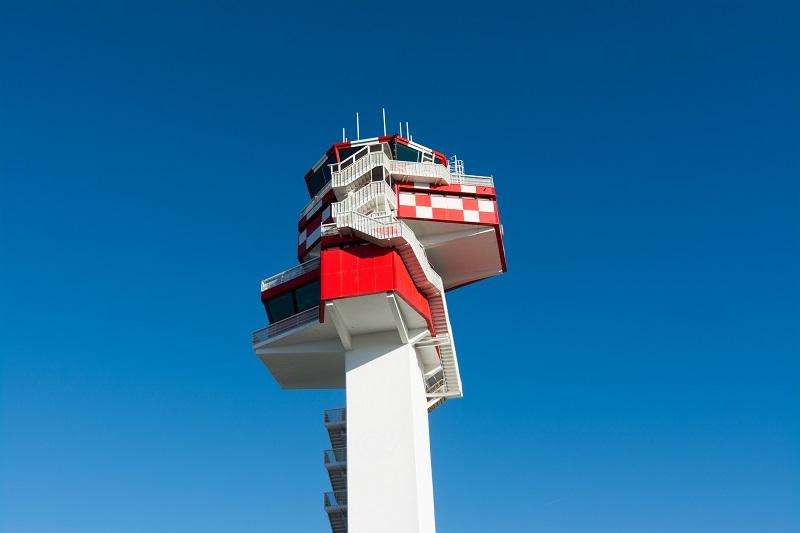 La torre di controllo dell'aeroporto di Fiumicino
