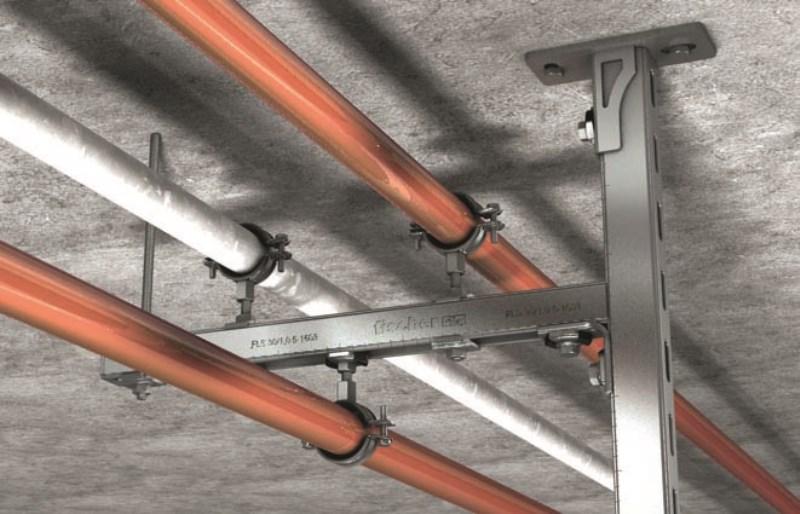 Fischer FLS 31 SaMontec,sistema per lo staffaggio di impiantistica leggera