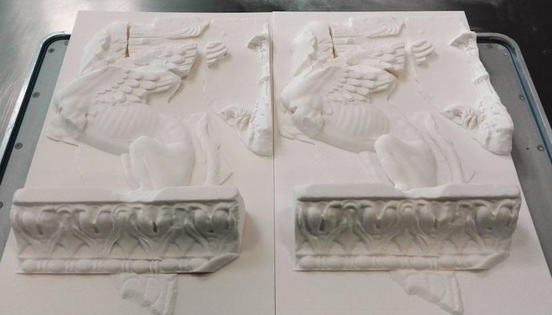 Fregio delle Sfingi stampato in 3d - Fonte Enea