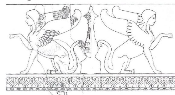 Lo schema del Fregio delle Sfingi della Soprintendenza - Fonte Enea