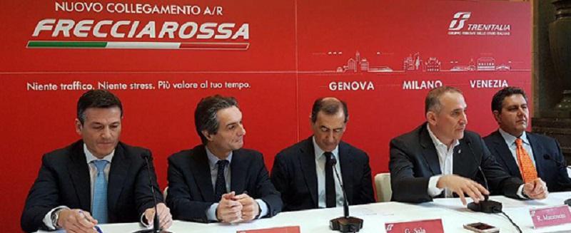 La presentazione del nuovo collegamento Genova-Milano-Venezia