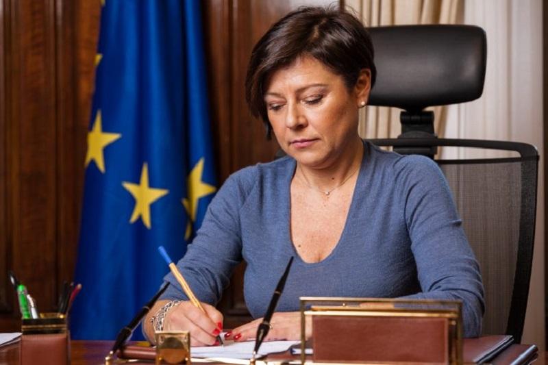 Paola De Micheli, commissario straordinario alla ricostruzione delle aree colpite dal terremoto del Centro Italia del 2016.