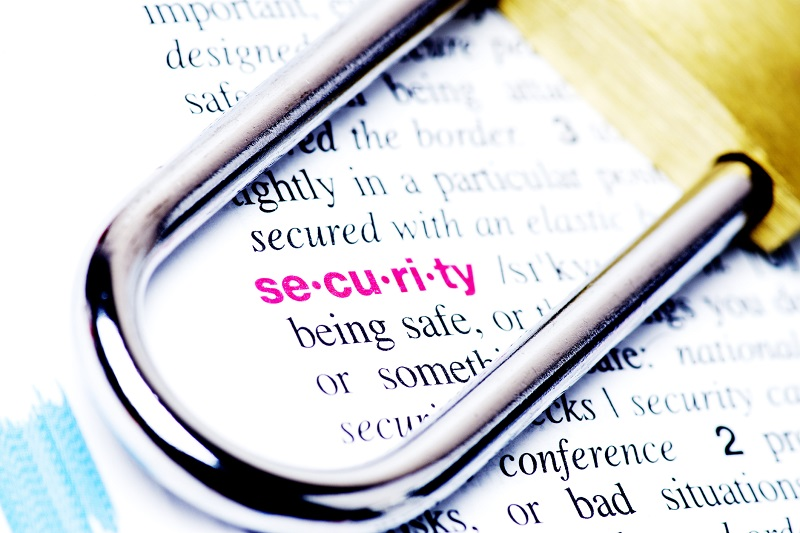 The meaning of security in a dictionary