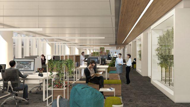 Gli spazi interni di Spark One sono progettati e arredati per creare un clima di comfort
