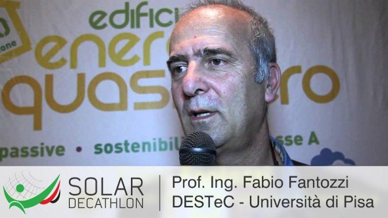 Il Prof. Ing. Fabio Fantozzi, DESTeC - Università di Pisa