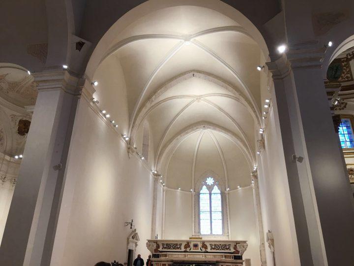 Consolidamento delle volte a crociera dell'abside