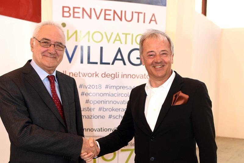 Marco Versari, presidente Assobioplastiche e Antonio Massarotti, presidente Innova scarl