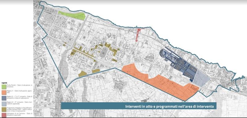 I progetti e le idee già in atto sull'area interessata dal concorso Costasud