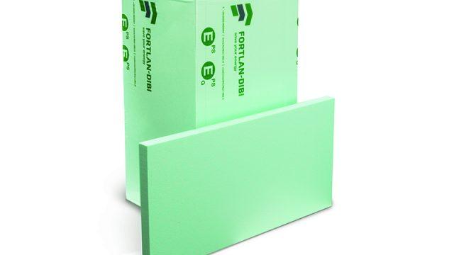 Il pannello in polistirene espanso green è DbxGreen di Fortlan DIBI