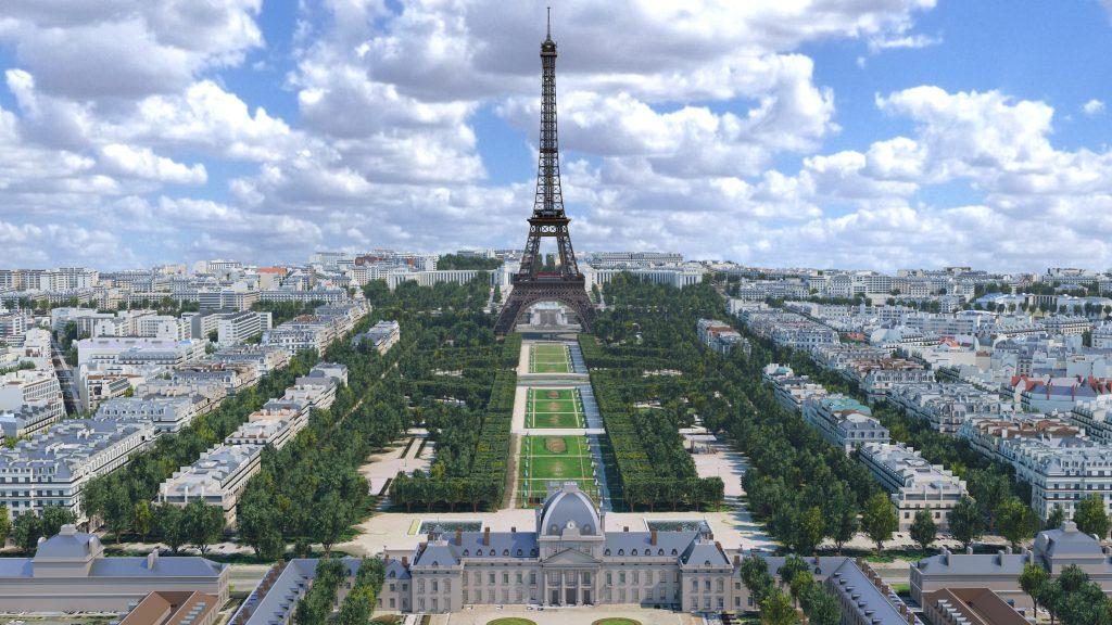 Tour Eiffel Parigi - modello virtuale - courtesy Autodesk