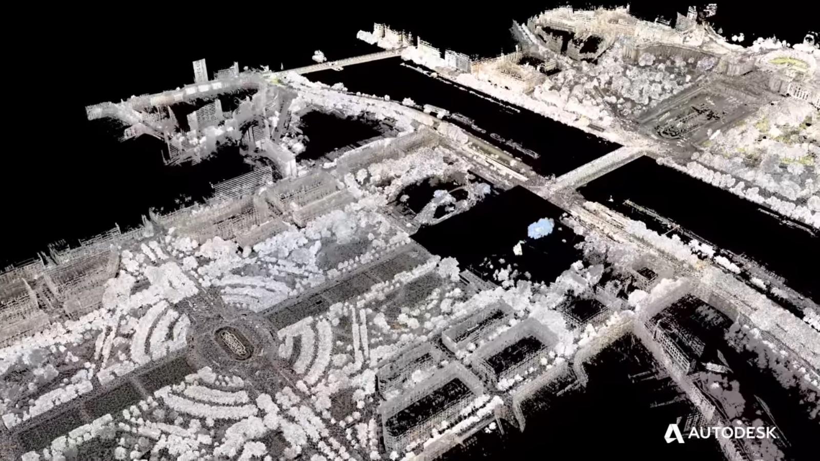 Tour Eiffel Parigi - nuvola di punti - courtesy Autodesk