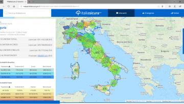La mappa dei cantieri di Italia Sicura è in continuo aggiornamento