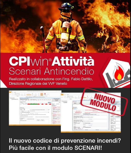 CPIwin Attività scenari antincendio
