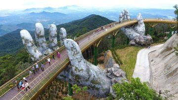 Ingegneria e arte: il Golden Bridge a Đa Nẵng, Vietnam