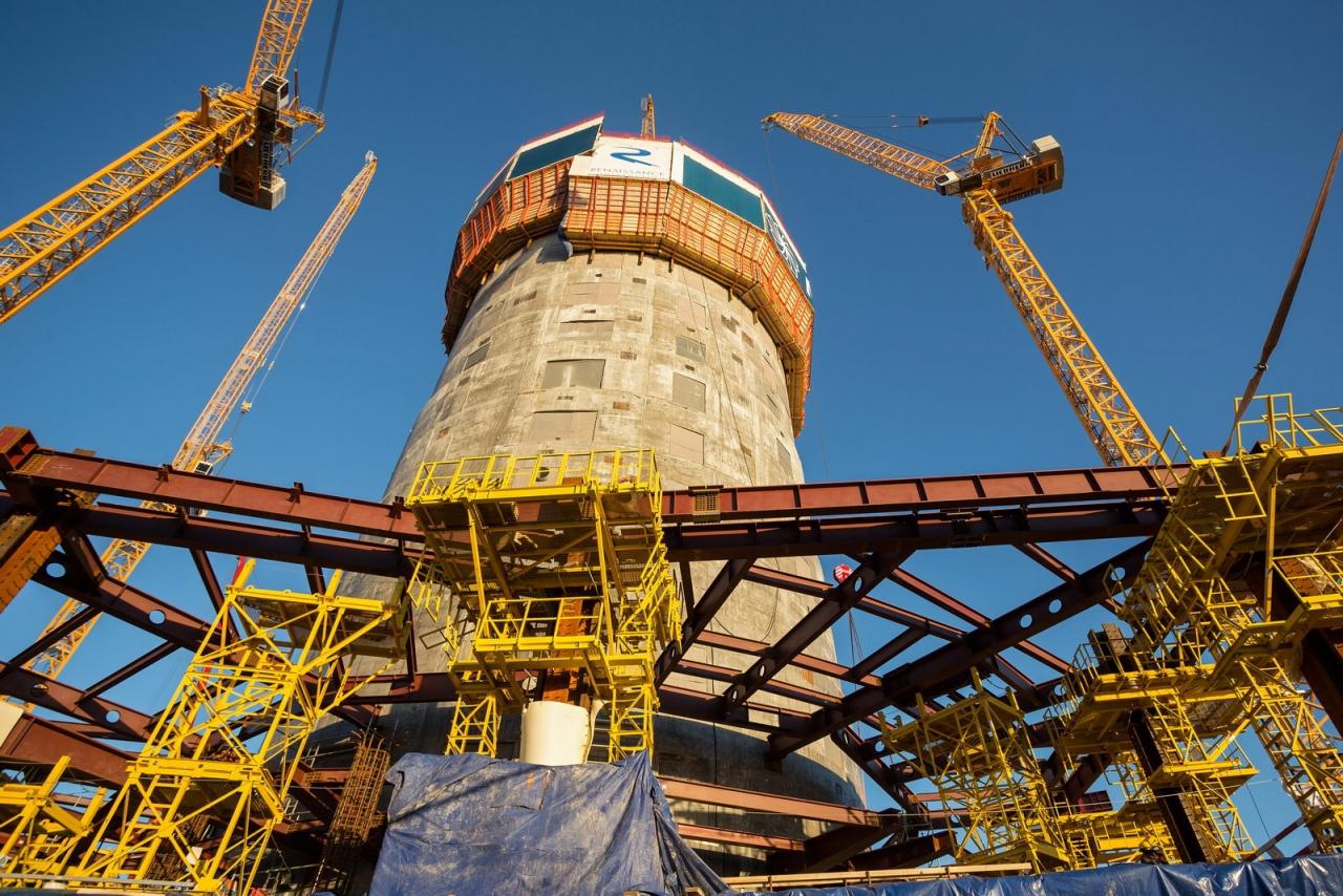 4 - Lakhta Center - fasi costruttive - core e solai - courtesy Lakhta Center