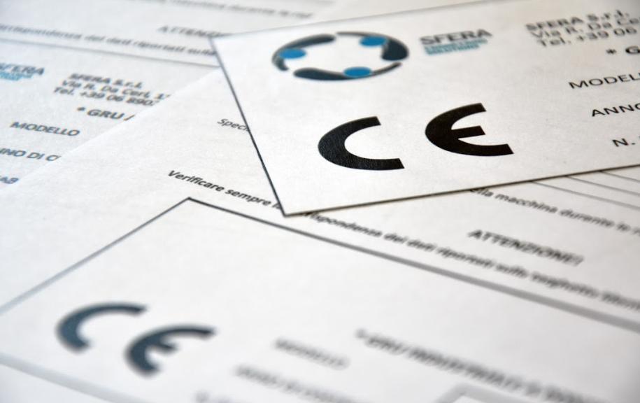 Sfera: servizi in confromità con Direttiva macchine e Marcatura CE