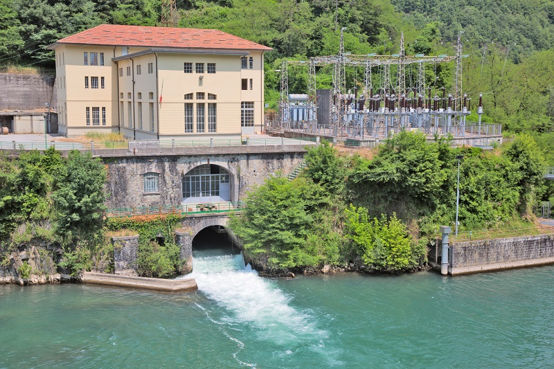 Hydroelectric power plant in Tuscany, Italy