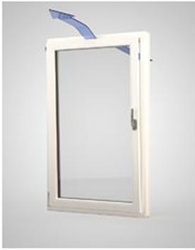 """La ferramenta """"estate/inverno"""" a risparmio energetico consente di impostare l'apertura della finestra, portandola da 170 mm a 40 mm. (Finstral)"""
