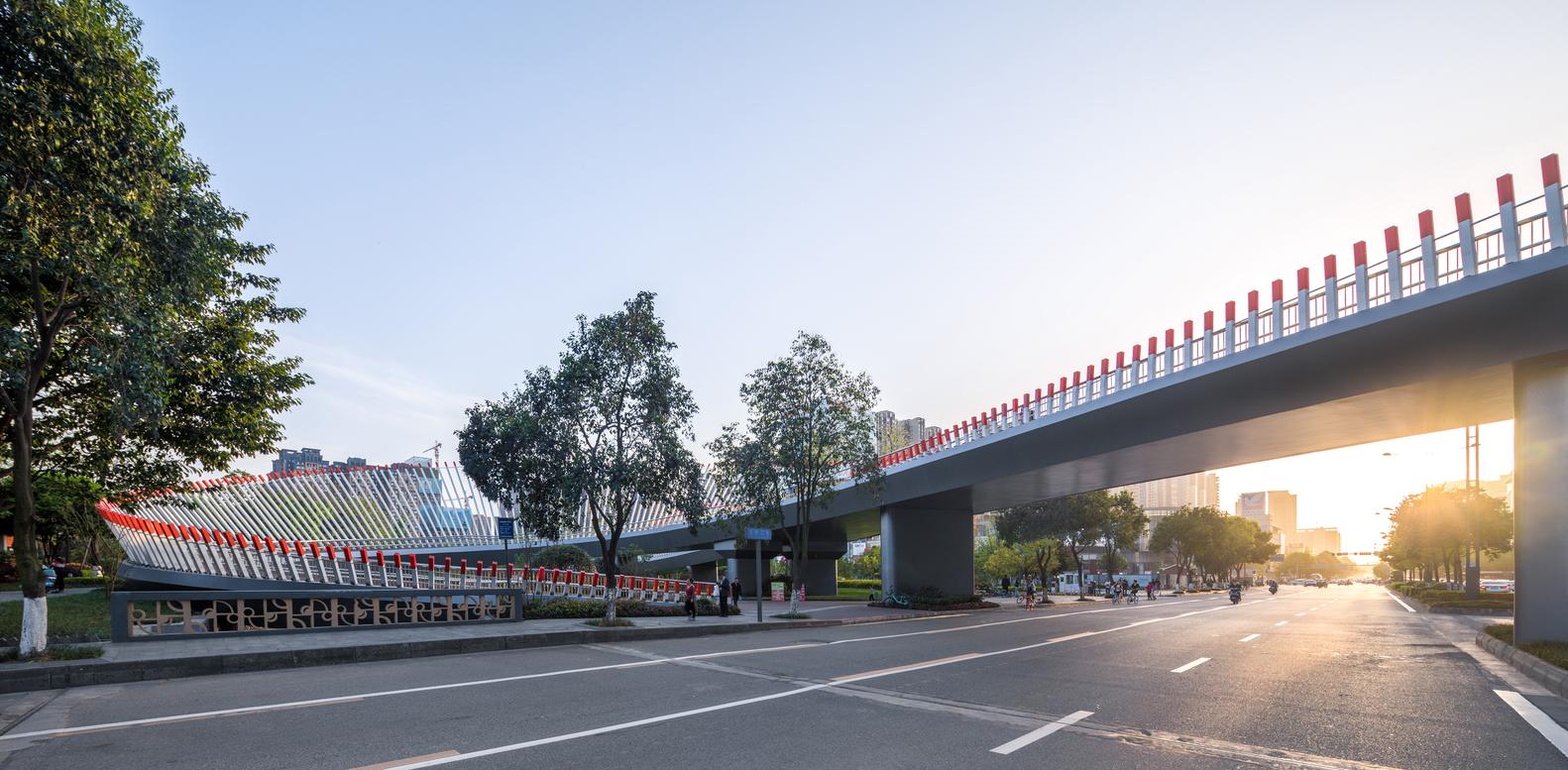 Ruyi Bridge - vista prospettica sovrappasso - courtesy Archdaily