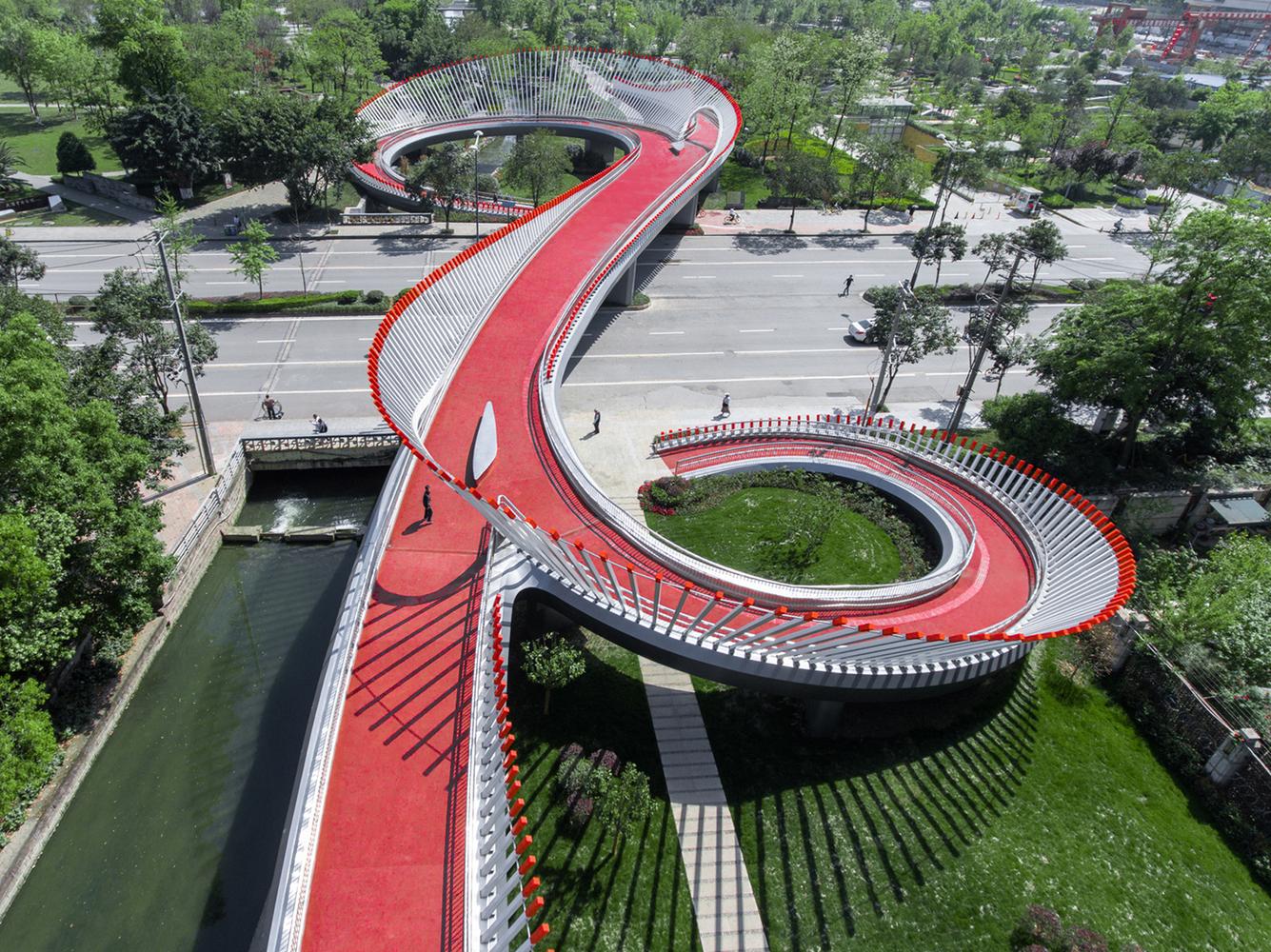 Ruyi Bridge - vista prospettica - courtesy Archdaily