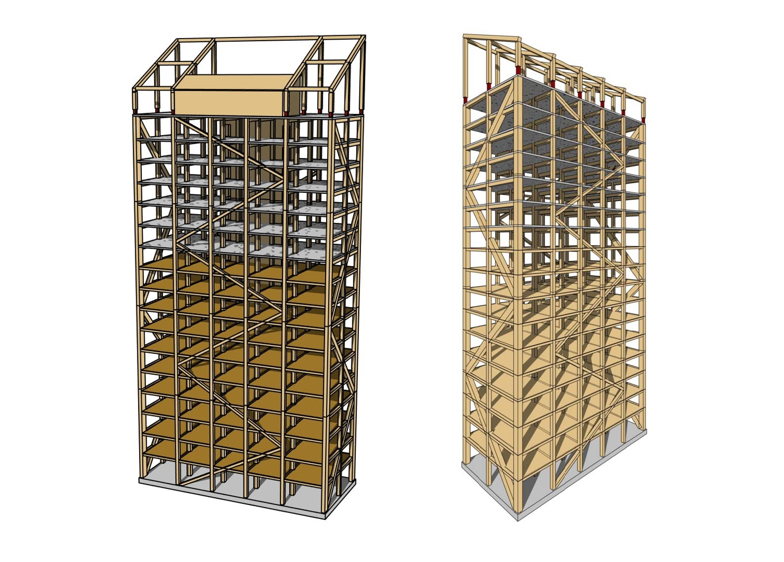 Mjøsa Tower - modello 3D - courtesy of Voll Arkitekter
