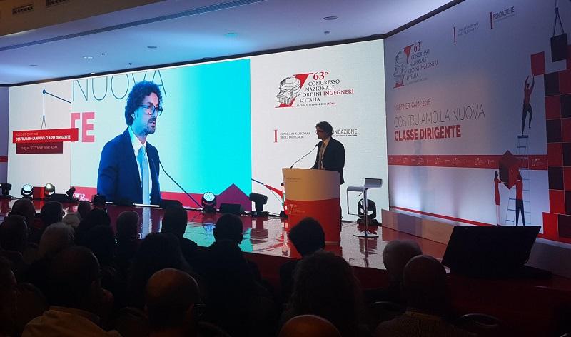Il Ministro Toninelli al congresso nazionale dell'Ordine degli Ingegneri