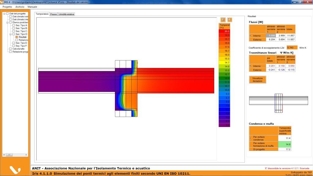 Calcolo analitico ponte termico. Fase 3 -Elaborazione del ponte termico corretto con ISOKORB®