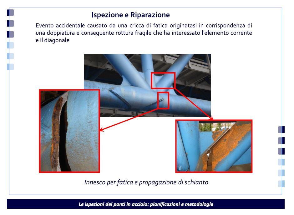 Figura 4 - Ispezione e riparazione (presentazione Ing. Lanza)