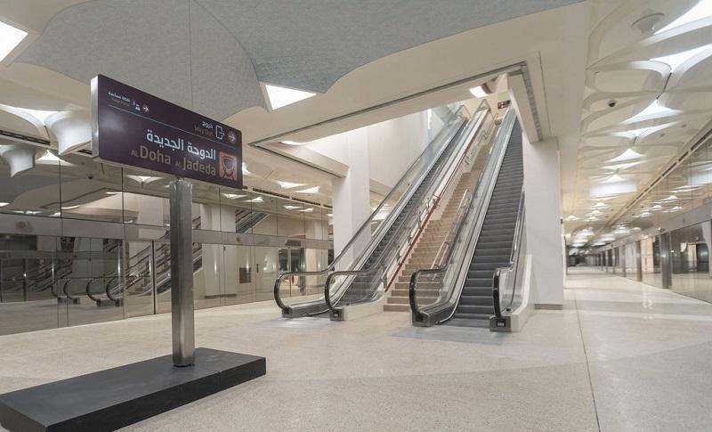 La stazione di Al Jadeda nella metropolitana di Doha