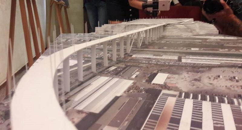 Un'immagine del plastico di Renzo Piano relativo al progetto per il nuovo ponte di Genova (fonte FB Regione Liguria)