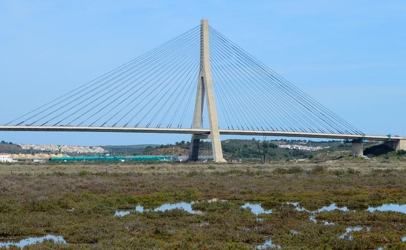 Il Guadiana International Bridge, tra Portogallo e Spagna, progettato dall'ingegnere José Luis Câncio Martins