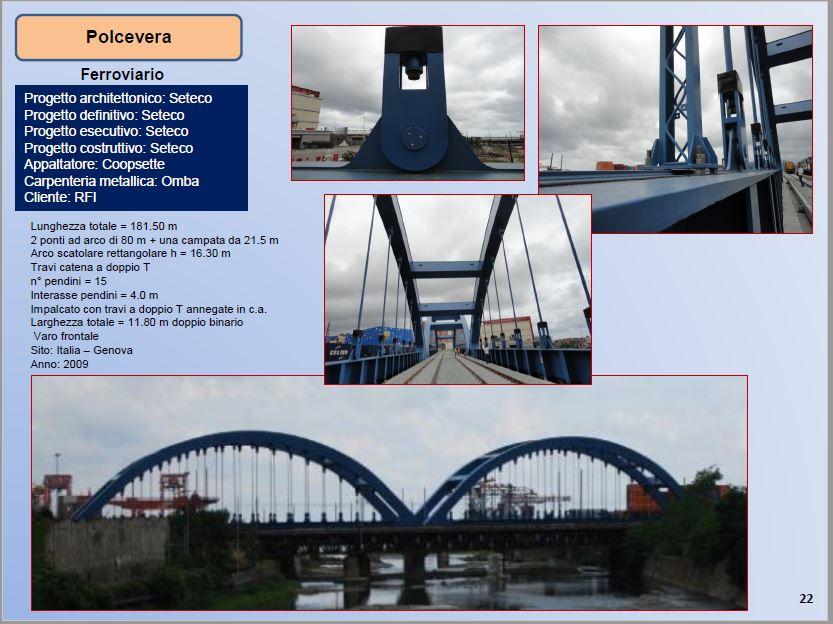 Ponte ferroviario ad arco sul Polcevera - Ing. P. Pistoletti