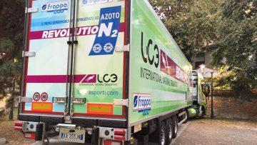 Arriva in Italia il primo semirimorchio refrigerato ad azoto