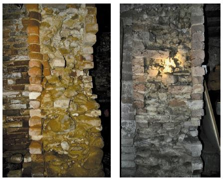 Figura 8 Murature a sacco presenti in un edificio in provincia di Fermo