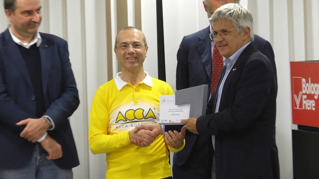 Guido Cianciulli, fondatore,  con il fratello Antonio Cianciulli, di Acca Software alla premiazione dei Digital&BIM Awardas