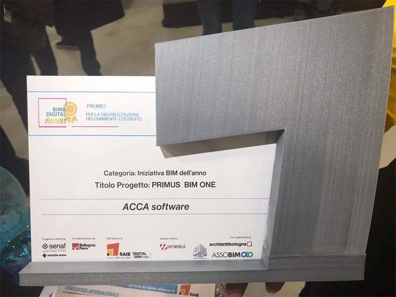 Il premio Iniziativa BIM dell'anno a Saie 2018
